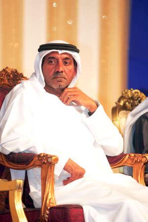 DUBAI - UAE - Jan 17 2012: Sheikh Ahmed bin Saeed Al Maktoum, Chairman and CEO of Emirates Airlines attending a school function, on Jan 17 in Dubai. Editorial