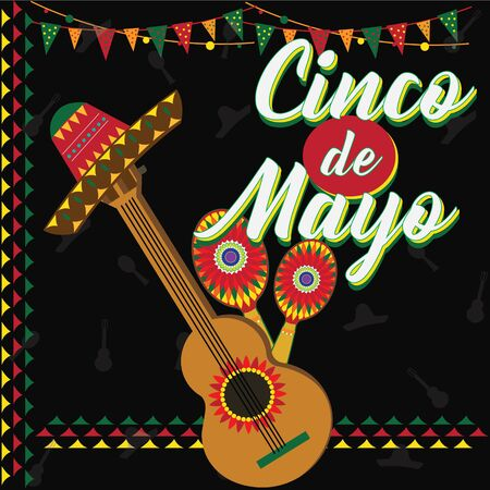 Cinco de Mayo. Mexican Festival. Guitar and Music.
