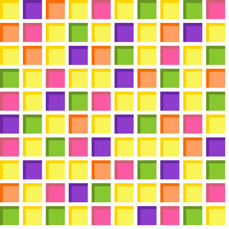 vivid colors: Seamless tile, seamless colorful mosaic pattern in vivid colors. Abstract square geometric background.? Illustration