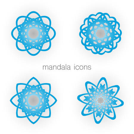 zenlike: Geometric mandala set. Vector ornamental symbols.�