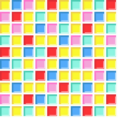 seamless tile: Seamless tile, seamless colorful mosaic pattern in vivid colors. Abstract square geometric background.� Illustration