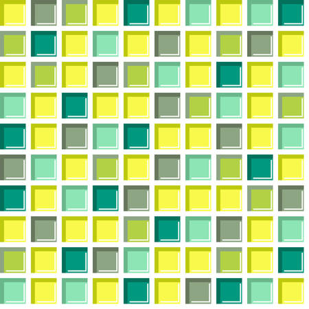 kitchen tile: Seamless tile, seamless colorful mosaic pattern in green shades. Abstract square geometric background.? Illustration