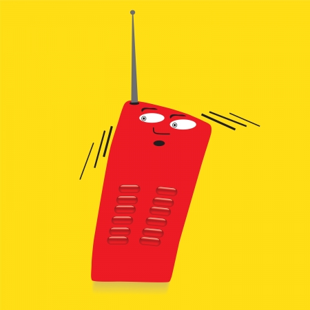 radio phone in serios affect Vector