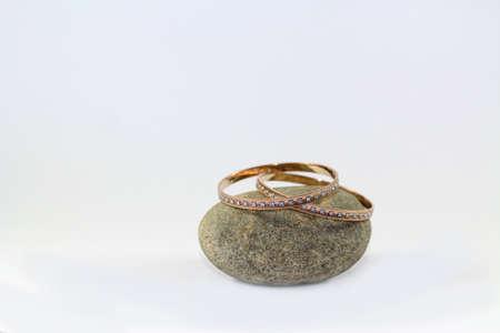 thin gold cuff  bracelet Stock Photo