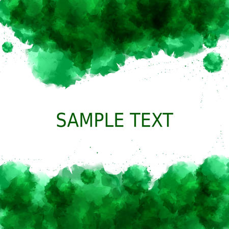 a place for the text: Green freshness background. Abstract watercolor style with a place for text in the middle. Vector illustration EPS10.