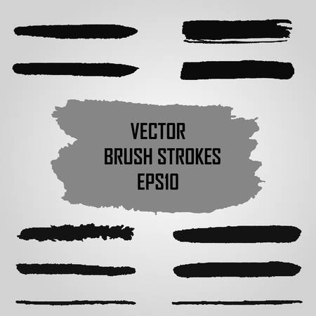 jpeg: Vector set of grunge brush strokes. Jpeg version also available in gallery.
