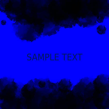a place for the text: Dark blue deep water background. Abstract watercolor style with a place for text in the middle. Vector illustration Illustration