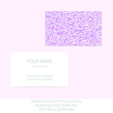 mauve: Business identity collection - mauve, orchid, violet chaos. Front and back sides for business card template. Vector Illustration EPS10.