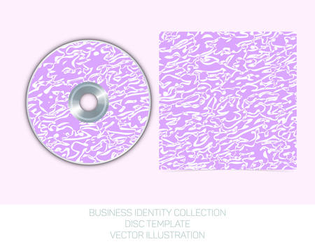 mauve: Business identity collection - mauve, orchid, violet chaos. CD or DVD cover template. Vector Illustration EPS10. Illustration