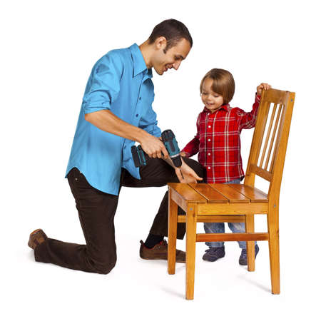 Father and son - do it yourself photo