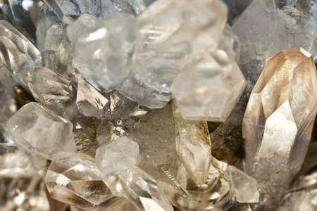 natural phenomenon: Crystallized quartz - mountain crystal Stock Photo