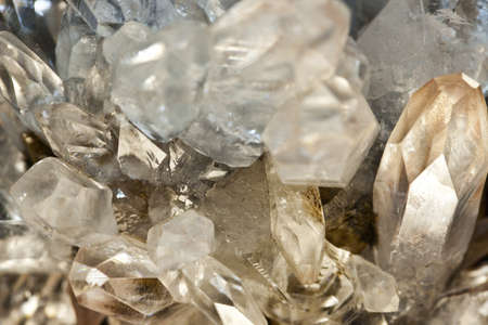 Crystallized quartz - mountain crystal Stock Photo