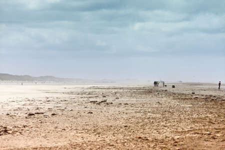 Ethereal landscape of a beach during sand storm photo