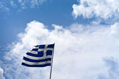 torn flag of greece Stock Photo - 20446560