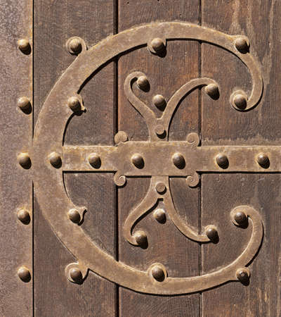 Old ornamental wrought iron door photo