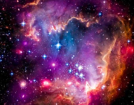 Die Magellanschen Wolke ist eine Zwerggalaxie und einer galaktischen Nachbarn der Milchstraße Standard-Bild