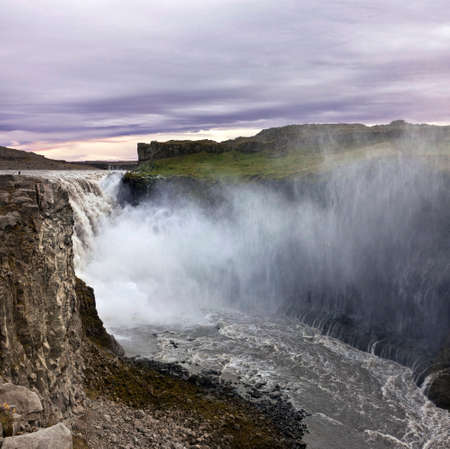 reputed: Dettifoss is a waterfall in Vatnajokull National Park in Northeast Iceland, and is reputed to be the most powerful waterfall in Europe