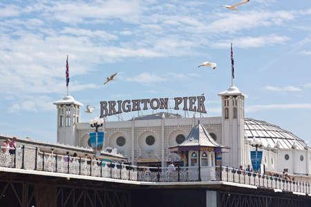 london to brighton: Brighton Beach Pier on the south coast of Great Britain