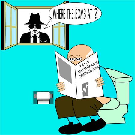 NSA  イラスト・ベクター素材