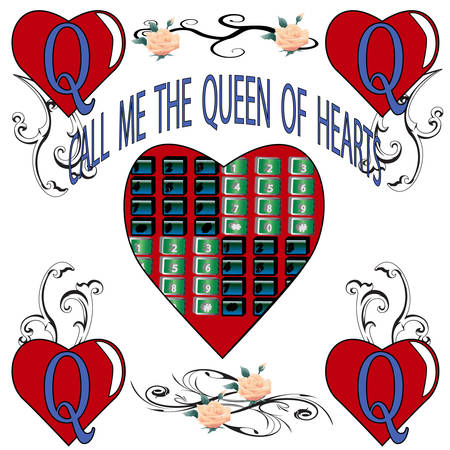 swag: QUEEN OF HEARTS Illustration