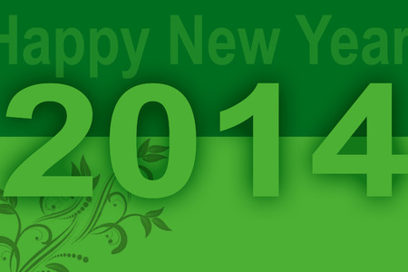new year card with green background photo