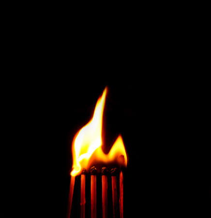 fire with black background photo