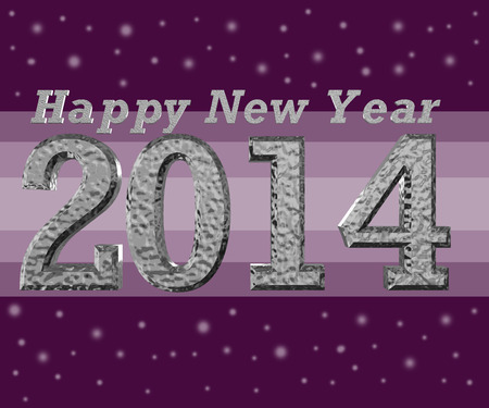 vintage new year card with grey background Stock Photo - 24031671