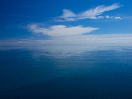 topdown: Endless blue ocean from an aerial view