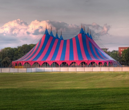 entertainment tent: festival tent on grass in the park