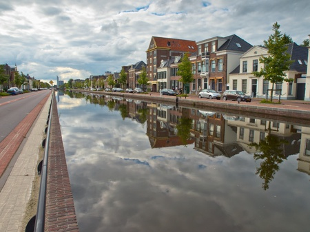 Central canal in the city of Assen Netherlands photo