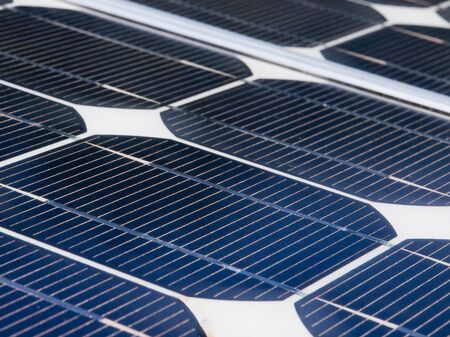 photoelectric: Detail of a solar panel Stock Photo