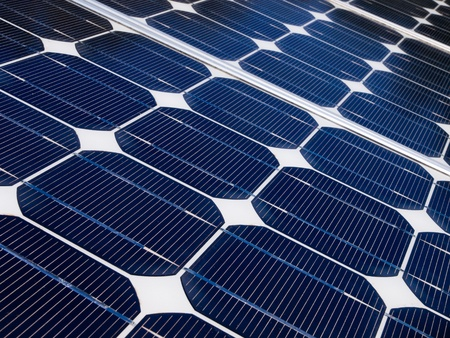 Solar panel is generating electricity to help against global warming Stock Photo - 11334459