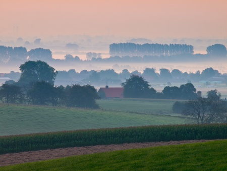 Sunrise over dutch rural hills Stock Photo - 11334421