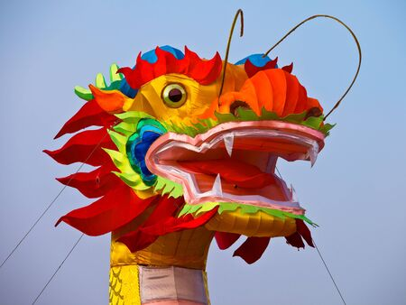 Colorfull dragon in china to celebrate chinese new year festival photo