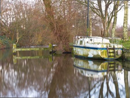 restauration: Detoriated sailing ship waiting for restauration