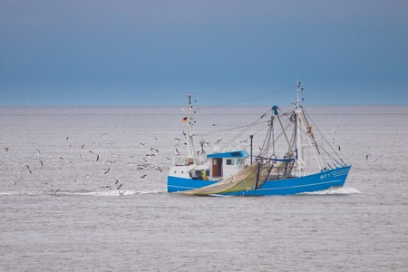 sea gull: Fishing vessel of the traditional dutch fishing fleet Stock Photo