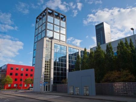 leeuwarden: Modern office buildings in the centre of the city of Leeuwarden
