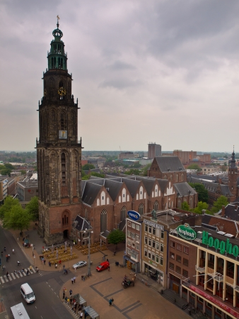 nederland: The tower of the Martini church in Groningen, Netherlands