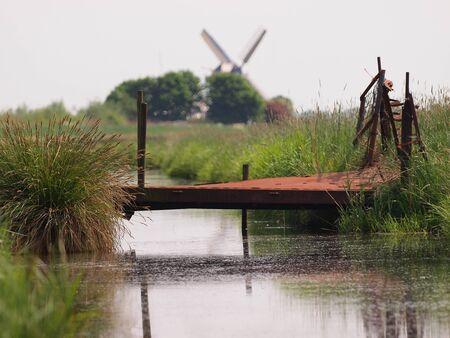 biotope: Rusty bridge in rural landscape