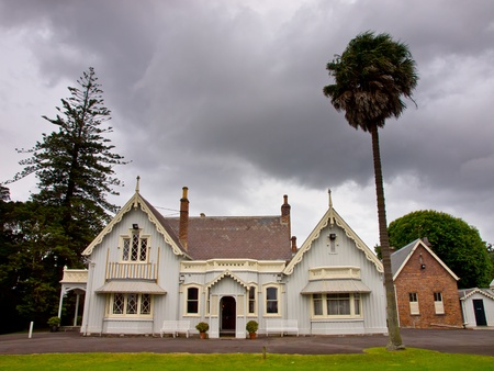 Victorian style historic library in Auckland, New Zealand