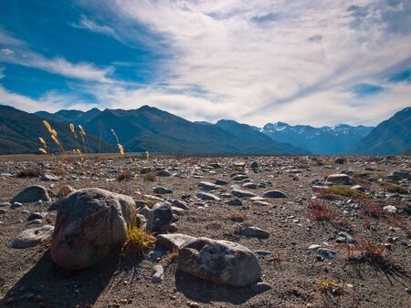 Mountain vista at Arthurs pass national park photo