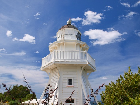 south pacific: Unique wooden lighthouse near Christchurch New Zealand