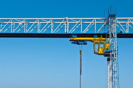 forwarder: Lifting crane at industrial harbor site