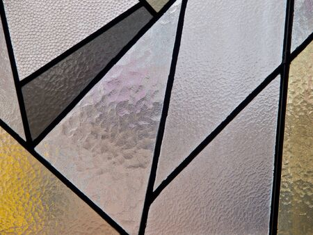 Modern art stained glass in a new church photo
