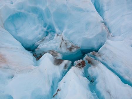 franz josef: Azul hielo en el glaciar Franz Josef, West Coast, Nueva Zelanda Foto de archivo