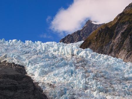 franz josef: Icefall on the Franz josef Glacier, West coast, New Zealand Stock Photo