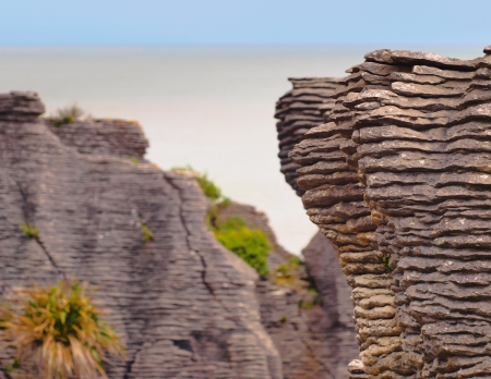 perpendicular: Sedimentary Formations at Pancake Rocks, Punakaiki, West Coast, New Zealand