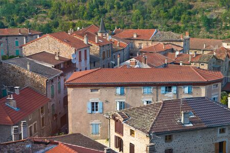 View of a typical French Rural Village in the Ardeche photo