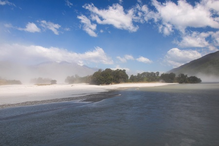 Sea Mist on Lake Wakatipu, Queenstown, New Zealand photo