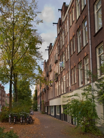 Amsterdam Urban City Scene with Apartments and Trees Stock Photo - 21844050